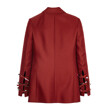 WOOL SILK SOLID JACKET (DARK RED)