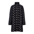NYLON COAT EMBROIDERED ON FRONT (BLACK)