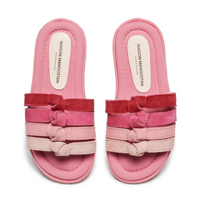 Pink Gradient suede SLIPPERS (PINK)