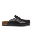 LEATHER LOAFER MULES (BLACK)