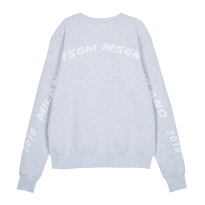 MSGM MILANO 2018 SWEATSHIRT (LIGHT GREY)