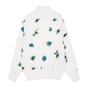 ROSEBUD PRINTED WASHED SATIN TOP (WHITE)
