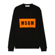 MSGM Box Logo Sweatshirt (BLACK)