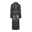 LAMINATED LAMB TRENCH COAT (DARK GREY)