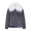FUR LINED JACKET (GREY)