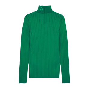 BRIGHT VISCOSE PULLOVER (GREEN)