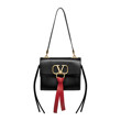 Borse a tracolla vee-ring small shoulder bag (BLACK)